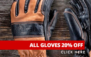 All gloves 20% off through Monday!