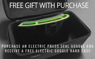 Free hard case with Electric press seal goggle purchase!