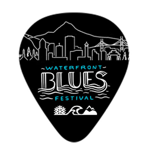 OFFICIAL BLUESFEST GUITAR PICK PIN
