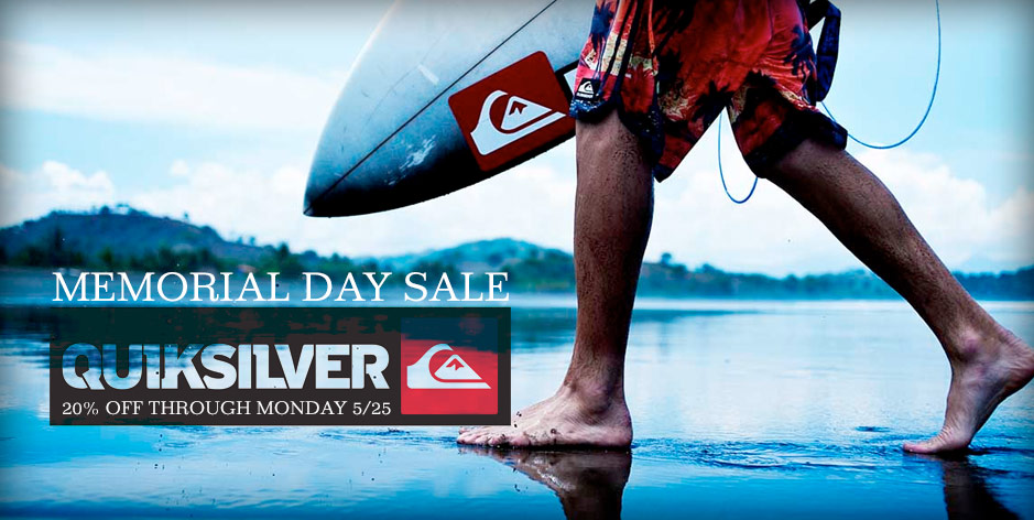 Quiksilver Memorial Day Sale